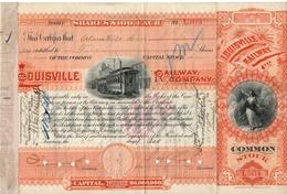 Titre De Bourse Made In USA - LOUISVILLE RAILWAY COMPANY - 1893. - Chemin De Fer & Tramway