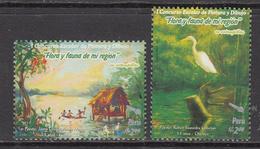 2007 Peru Children's Art Birds Complete Set Of 2  MNH - Perù