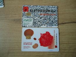 ALBANIA USED  2  CARDS - Albanië