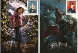 Harry Potter, Carte-maximum Warner Bros. France.  Deux Photos Recto-verso.. Deux Cartes Maximum - Acteurs