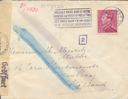 Belgium Belgique 1942 German Occupation Cover To Netherlands With Traces Of Chemical Control By The Censors - Seconda Guerra Mondiale