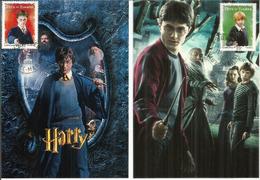 Harry Potter, Carte-maximum Warner Bros. France.  Deux Photos Recto-verso.. Deux Cartes Maximum - Andere