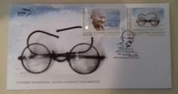 GREECE , 2019, FDC,GANDHI, 150 YEARS SINCE BIRTH OF GANDHI, - Mahatma Gandhi