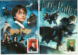 Harry Potter, Carte-maximum Warner Bros. France.  Deux Photos Recto-verso.. Deux Cartes Maximum - Artiesten
