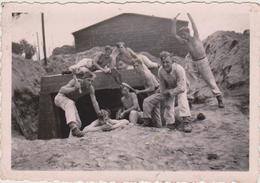 57 - SARRALBE - PHOTO 95x65 - MALGRE NOUS DE FAULQUEMONT AU R A D DE SARRALBE - 1942 - Sarralbe