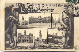 69 - LYON SOUVENIR DE 1910 LES FETES GYMNIQUES SPORT PHOTOS R/V - Sonstige