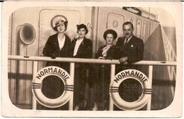1H6  ---   Carte Photo  Paquebot Normandie - Passagiersschepen