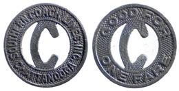 01697 GETTONE TOKEN JETON FICHA TRASPORTI TRANSIT BUS TENNESSE, CHATTANOOGA, 1948 - Non Classificati