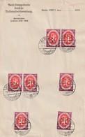 """Deutsches Reich / 1920 / Mi. 110 7x Auf Briefpapier """"Nationalversammlung"""", SSt. Berlin (3444) - Storia Postale"""