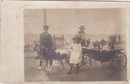 Fotokaart, Zandvoort.Bokkenkar Geiten Wagen, Foto Huis F Brauckman Nordzeebad Zandvoort. Piet Hein Straat 61(klein Schre - Zandvoort