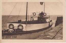 """CPA Carteret - Le Vapeur """"Rose Star"""" Faisant Le Service De Jersey (25 Km) (très Beau Plan) - Carteret"""