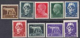 ITALIA - 1929/1930 - Lotto Composto Da 9 Valori Nuovi MNH: Yvert 226, 227/229, 231, 236/238 E 240. - 1900-44 Victor Emmanuel III.