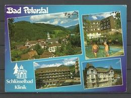 Deutschland BAD PETERSTAL Schwarzwald (gesendet 1992, Mit Briefmarke) Schlüsselbad Klinik - Bad Peterstal-Griesbach