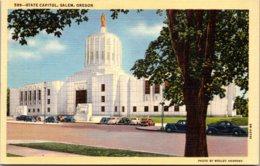 Oregon Salem State Capitol Building Curteich - Salem