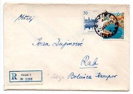 Letter - Postmark Osijek, 196?, Yugoslavia, Registrated Letter - Unclassified