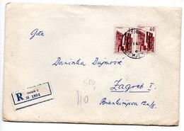 Letter - Postmark Osijek, 8.10.1963. / Zagreb, 8.10.1963., Yugoslavia, Registrated Letter - Unclassified