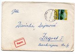 Letter - Postmark Osijek, 2.10.1963. / Beograd, 2.10.1963. / Zagreb, 3.10.1963., Yugoslavia, Expres Mail - Unclassified