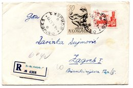 Letter - Postmark Osijek, 4.5.1962. / Zagreb, 5.5.1962., Yugoslavia, Registrated Letter - Unclassified