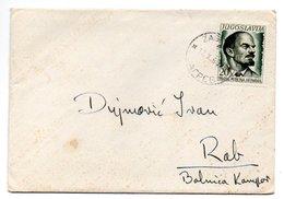 Letter - Postmark Zagreb, 12.10.1960. / Rab, 13.10.1960., Yugoslavia - Unclassified
