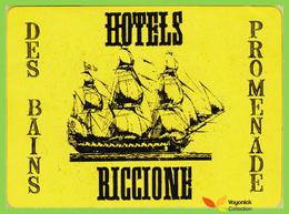 Voyo HOTELS DES BAINS & PROMENADE Riccione Italy Hotel Label  Sticker 1970s Vintage - Hotel Labels