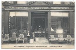 FORGES LES EAUX ( 76 - Seine Maritime ) 7 Rue De Gournay - Antiquités Ameublements - Ch. WAQUET - Magasin - TTB Etat - Forges Les Eaux