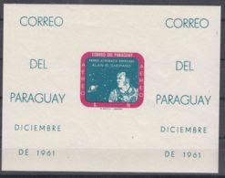 Paraguay 1961 Alan Shepard Block Mi#Block 13 Imperforated, Mint Never Hinged - Paraguay