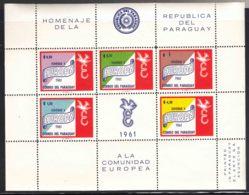 Paraguay 1961 Europa Mi#Block 14 Mint Never Hinged - Paraguay