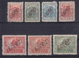 Poland Post Offices In Levant (Turkey) 1921 Mi#I-VII Mint Hinged Complete Set - Levant (Turkey)