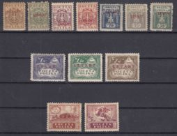 Poland Post Offices In Levant (Turkey) 1919 Mi#1-12 Mint Hinged Complete Set - Levant (Turquía)