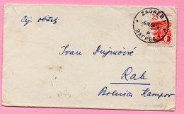 Letter - Postmark Zagreb, 6.4.1964. / Rab, 7.4.1964., Yugoslavia - Unclassified