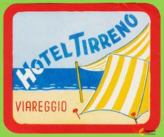 Voyo HOTEL TIRRENO Viareggio Italy Hotel Label Early Printing  Vintage - Etiquettes D'hotels