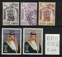 Bahrain - Yvert 252, 285, 286, 705 706 Obl - Scott#238-240 And 577-578 - Bahreïn (1965-...)