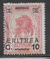 Eritrea Scott # 60 Used Lion Overprinted, 1922 - Eritrea