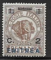 Eritrea Scott # 81 MNH Somalia Stamp Overprinted, 1924 - Eritrea
