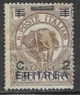 Eritrea Scott # 81 Mint Hinged Somalia Stamp Overprinted, 1924, Small Hinge Thin - Eritrea