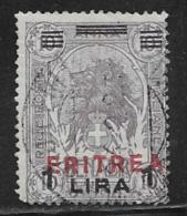 Eritrea Scott # 87 Used Somalia Stamp Overprinted, 1924, CV$30.00, Round Corner - Eritrea