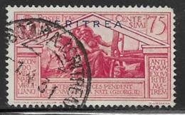 Eritrea Scott # 139 Used Italy Virgil 75C, 1930 - Eritrea