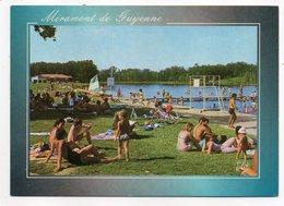 MIRAMONT DE GUYENNE--1994--Le Lac - La Plage Du Lac Du Saut Du Loup (très Animée)--vélo.........à Saisir - Otros Municipios