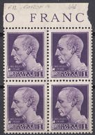 ITALIA - 1942 - Quartina Nuova MNH Di Yvert 442. - 1900-44 Victor Emmanuel III.