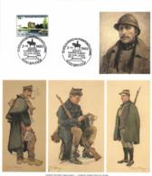 Belgium 1977 COB 1854 Mi. 1906 On Commemoration Card 2-Nov-1993 Brugge, WW1 Armistice, King Albert I And His Army - Souvenir Cards