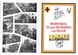 Belgium 1994 COB 2571 Commemoration Card 3-Sep-1994 Maldegem, WWII Liberation, 50 Year Peace - Cartes Souvenir