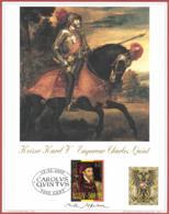 Belgium 2000 COB 2887 Mi. 2938 FD Commemoration Card Gent, Charles Quint, Karel V - Cartes Souvenir