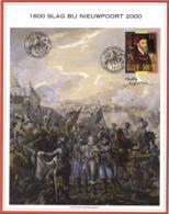 Belgium 2000 COB 2887 Mi. 2938  On Commemoration Card 2-Jul-2000 Nieuwpoort, Charles Quint, Karel V, Battle - Souvenir Cards