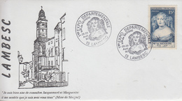 Enveloppe  FRANCE   1ére   Exposition  Départementale   Madame  De  Sévigné    LAMBESC    1990 - Postmark Collection (Covers)