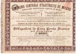 Titre Ancien - Compagnie Centrale D'Electricité De Moscou - Obligation De 1902 - - Russie