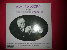 LP33 N°197 - ALVIN ALCORN AND HIS NEW ORLEANS JAZZ BAND -  COMPILATION 10 TITRES - Jazz