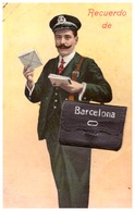 ESPAGNE   RECUERDO  BARCELONA   10 VUES DANS SA SACOCHE - Barcelona