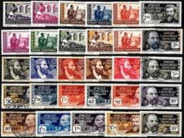 FR. EQ. AFRICA, Yv. 33-62 (no #44, 52), MLH-MNG, F-VF, Cat. €46 - A.E.F. (1936-1958)