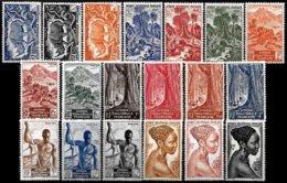 FR. EQ. AFRICA, Yv. 208-26, MNH, F-VF, Cat. €20 - A.E.F. (1936-1958)