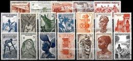 FR. WEST AFRICA, Yv. 24-42, MNH-MLH, F-VF, Cat. €19 - A.O.F. (1934-1959)